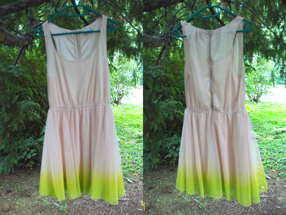 yellowgirl.at diy ombre kleid