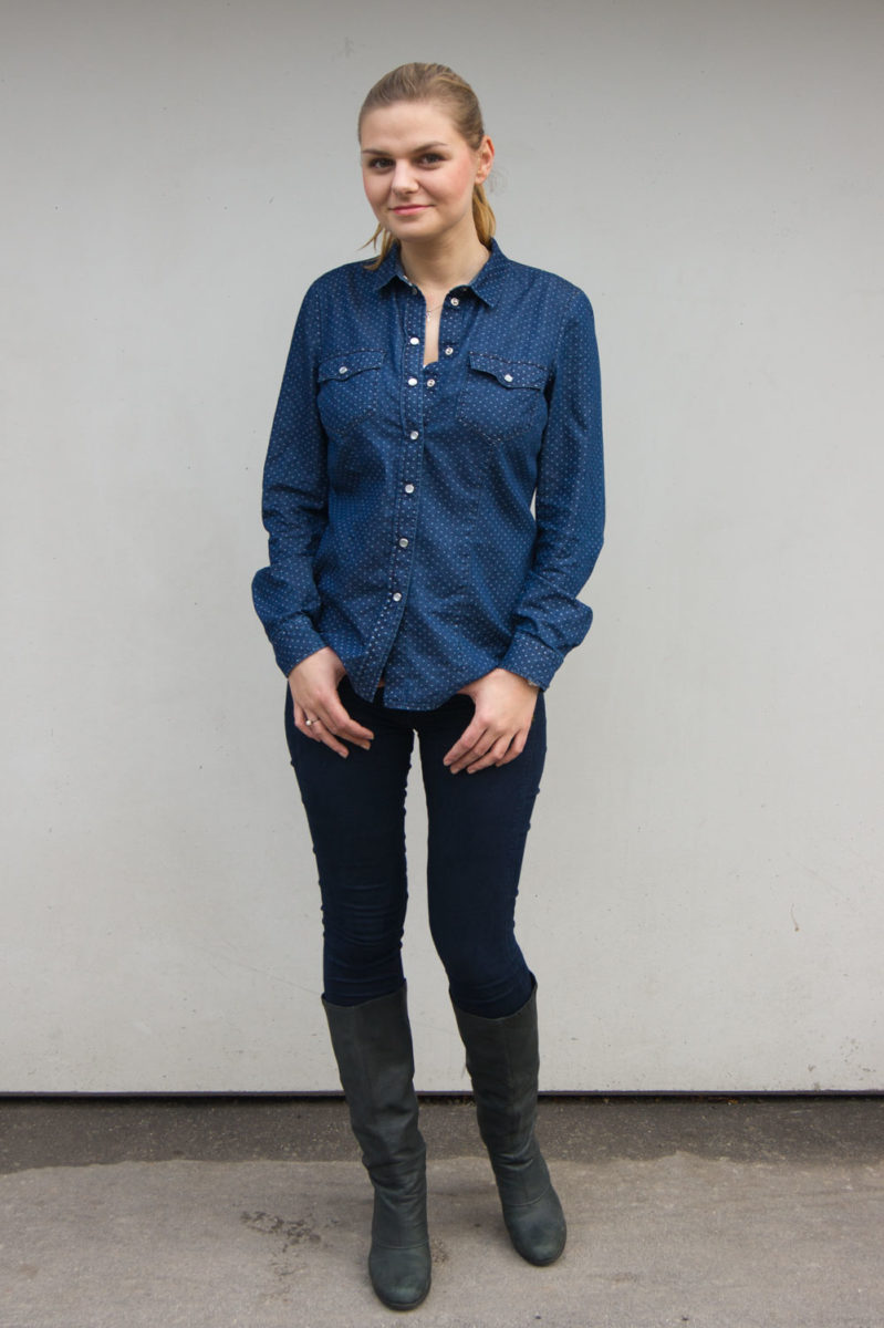 yellowgirl_Outfit_Indigo_Blue_With_Dots_3